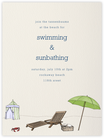 Beach Vignette - Cream - Paperless Post - Summer Party Invitations