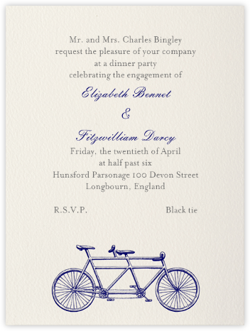 Bicycle Built for Two - Navy - Paperless Post -