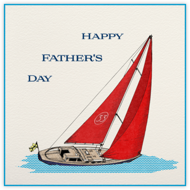 Boating - Paperless Post - Father's Day Cards
