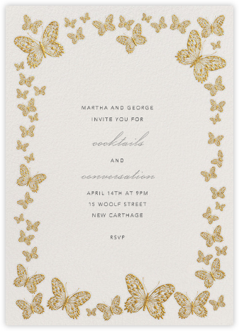 Butterfly Border - Gold | tall