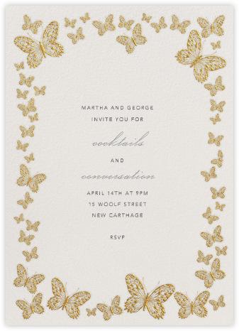 Butterfly Border - Gold - Bernard Maisner - Invitations