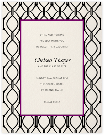 Cadogan - Cream/Black - Paperless Post - Celebration invitations