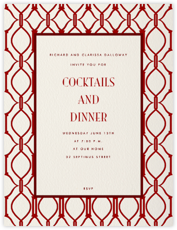 Cadogan (Cream with Crimson) - Paperless Post - Business event invitations