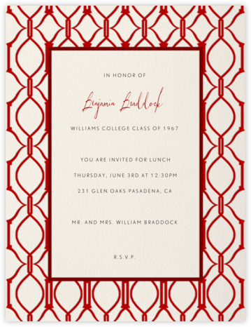 Cadogan (Cream with Crimson) - Paperless Post - Celebration invitations