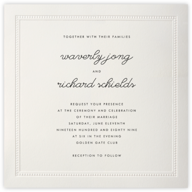 Corinthian (Large Square) - Paperless Post - Wedding Invitations