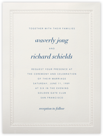 Corinthian (Large Tall) - Paperless Post - Wedding invitations