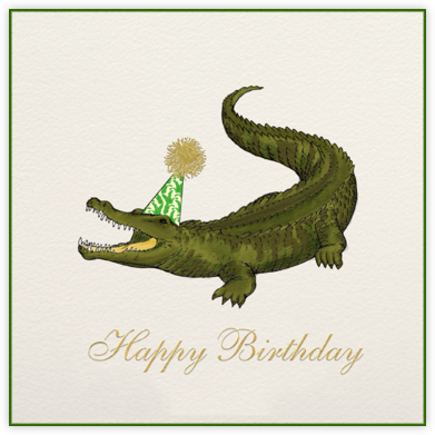 Crocodile Birthday - Paperless Post - Birthday Cards
