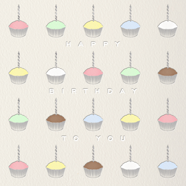 Cupcakes - Paperless Post - Birthday cards