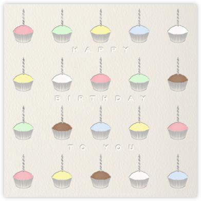 Cupcakes - Paperless Post - Birthday Cards for Him