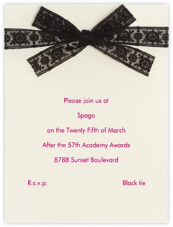 Dentelle (Black) - Paperless Post - General Entertaining Invitations