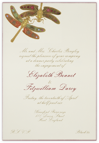 Dragonflies - Black Red - Bernard Maisner - Bernard Maisner Invitations