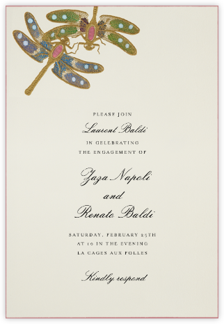 Dragonflies - Green Blue Pink  - Bernard Maisner - Summer entertaining invitations