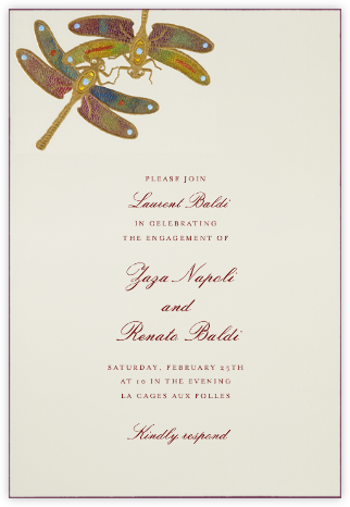 Dragonflies - Yellow Purple - Bernard Maisner - Summer Party Invitations