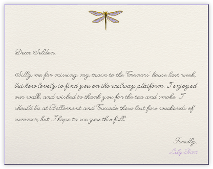 Dragonfly (Cream) - Paperless Post - Personalized Stationery