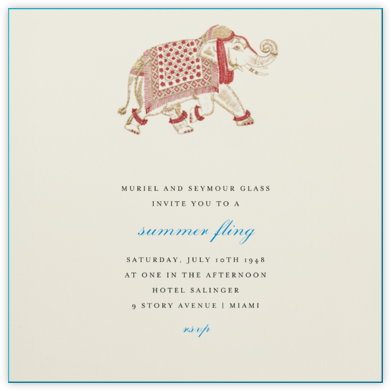 Engraved Elephant - Bernard Maisner - Celebration invitations