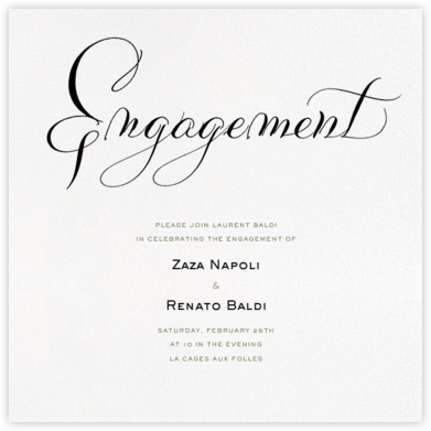 Engagement - Ivory - Bernard Maisner - Engagement party invitations