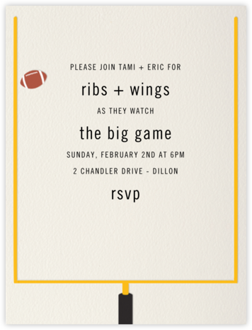 Field Goal - Paperless Post - Sporting Event Invitations