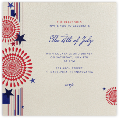 Fireworks (Cream) - Paperless Post - Invitations