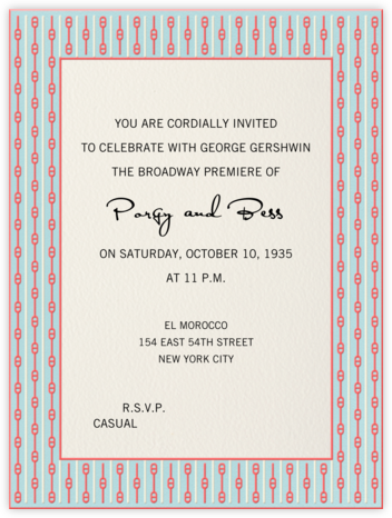 French Scarf (Light Blue) - Paperless Post - Online Party Invitations