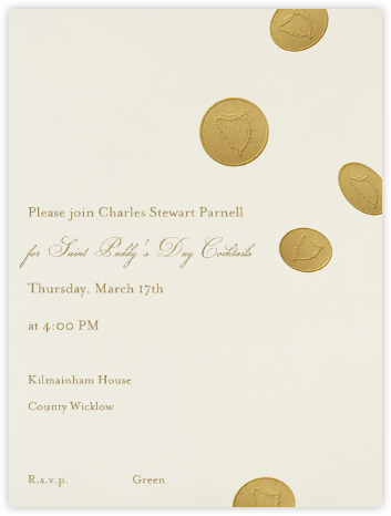 Gold Coins - Paperless Post - Online Party Invitations