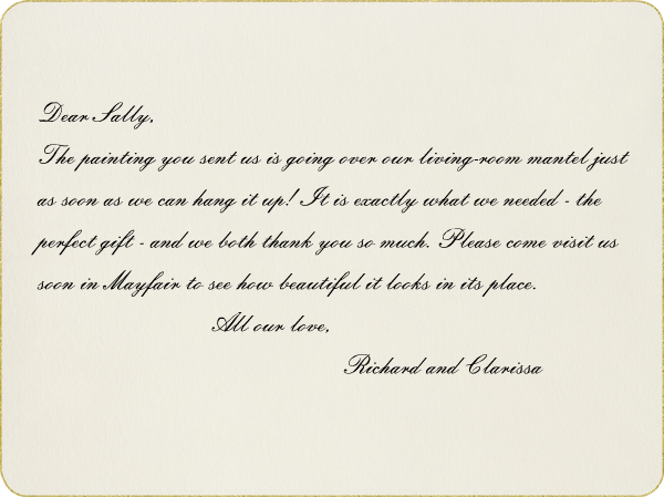 Gold Rounded Bevel (Horizontal) - Paperless Post - Wedding thank you notes