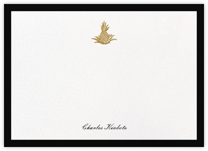 Golden Pineapple - Black - Paperless Post - Personalized Stationery