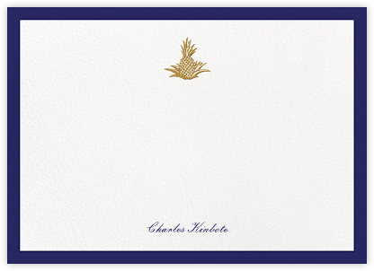Golden Pineapple - Royal Blue - Paperless Post - Personalized Stationery