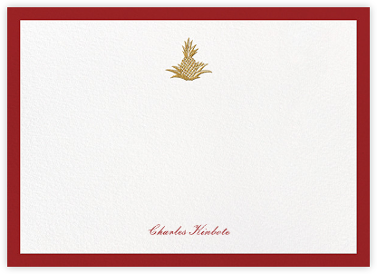 Golden Pineapple - Crimson - Paperless Post - Personalized Stationery