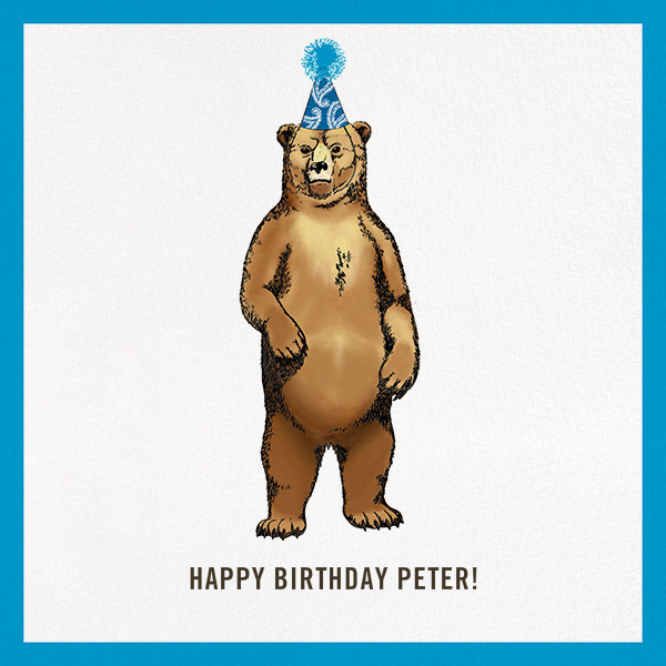 Grizzly Birthday - Paperless Post - Birthday cards