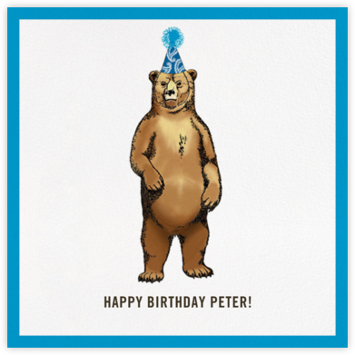 Grizzly Birthday - Paperless Post