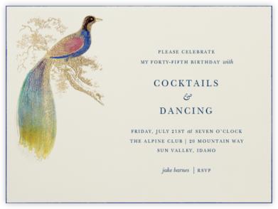Hand Painted Bird of Paradise - Blue - Bernard Maisner -