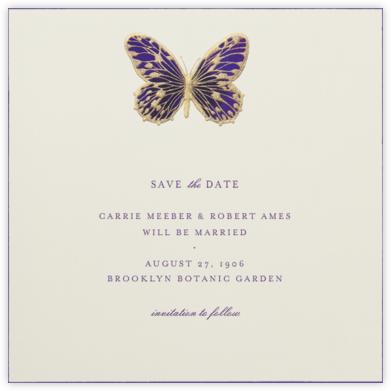 Hand Painted Butterfly - Second Purple - Bernard Maisner -
