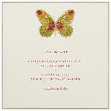 Hand Painted Butterfly - Red Yellow Green - Bernard Maisner -