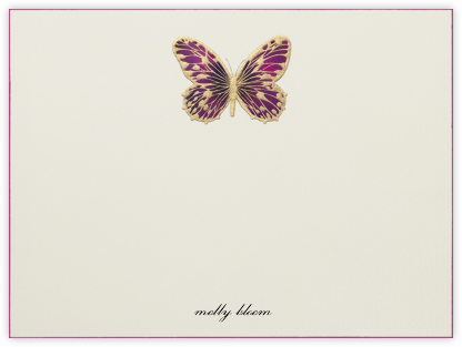 Hand Painted Butterfly (Stationery) - Magenta | horizontal