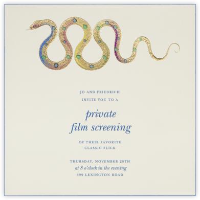 Hand Painted Snake - Blue Pink - Bernard Maisner -