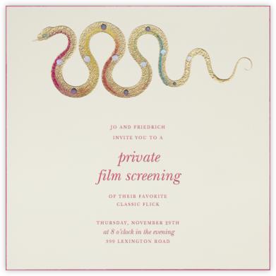 Hand Painted Snake - Pink Yellow - Bernard Maisner