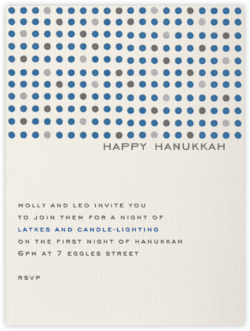 Hanukkah Dots Invitation - Paperless Post - Invitations