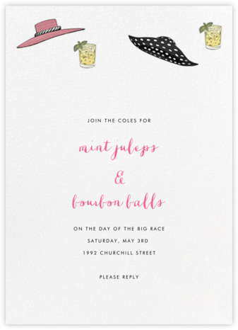 Hats and Juleps - Paperless Post - Summer entertaining invitations