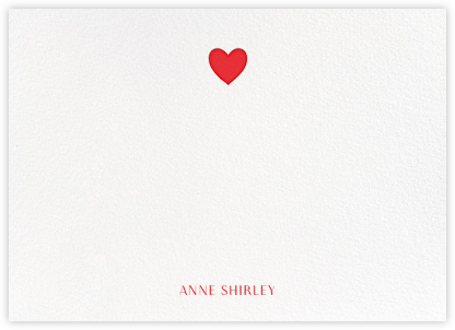 Heart Thank You - Red - Paperless Post - Personalized stationery