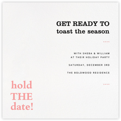 Hold the Date - Paperless Post - Invitations