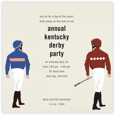 Jockey - Paperless Post - Viewing Party Invitations