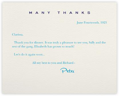 Many Thanks Cream (Navy) - Paperless Post