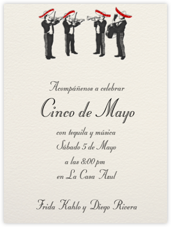 Mariachi Band - Paperless Post - Cinco de Mayo Invitations