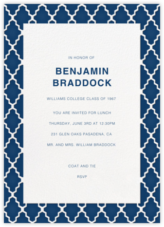 Marrakesh - Dark Blue - Paperless Post - Celebration invitations