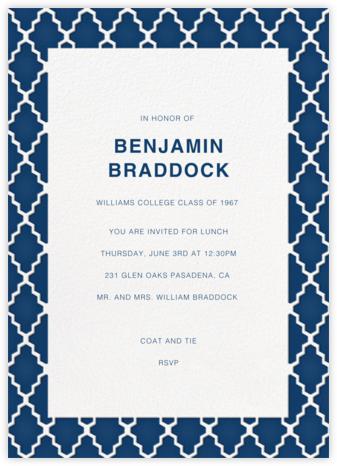 Marrakesh - Dark Blue - Paperless Post - Celebration invitations
