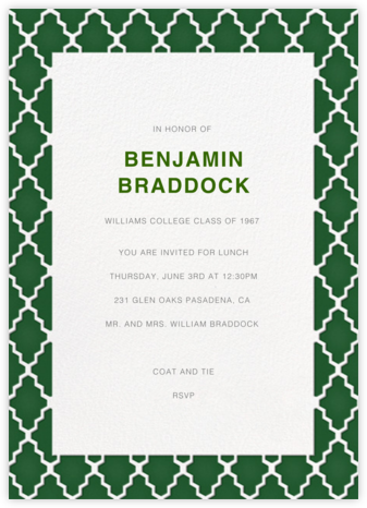 Marrakesh - Forest Green - Paperless Post - Celebration invitations