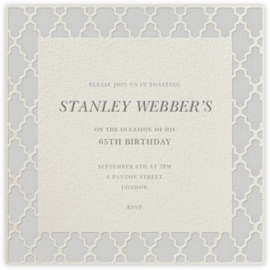 Marrakesh - Lighter Gray (Square) - Paperless Post - Adult Birthday Invitations