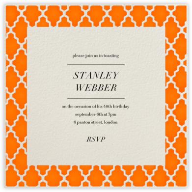 Marrakesh - Orange (Square) - Paperless Post - Adult birthday invitations