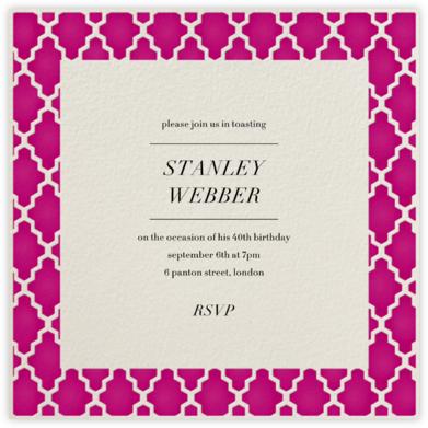 Marrakesh - Raspberry (Square) - Paperless Post - Adult birthday invitations