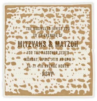 Matzoh - Paperless Post - Passover invitations